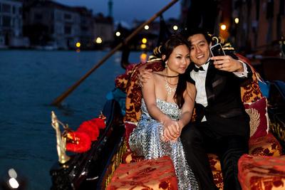 Gondola Couple Venice
