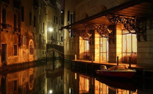 Venice Night Canal