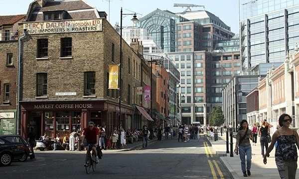 The views of the local community about the development of Spitalfields are 'cynically disregarded'